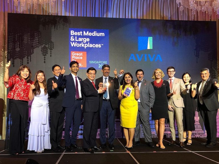 Aviva Singapore Great Place to Work Certified