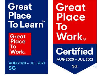 Great Place to Work and Great Place to Learn Certified