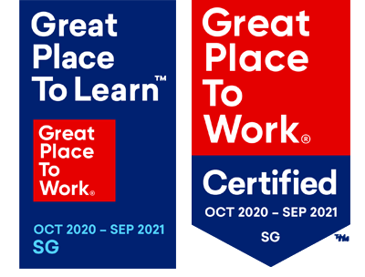 Great Place to Learn and Great Place to Work Certified Oct20-Sep21