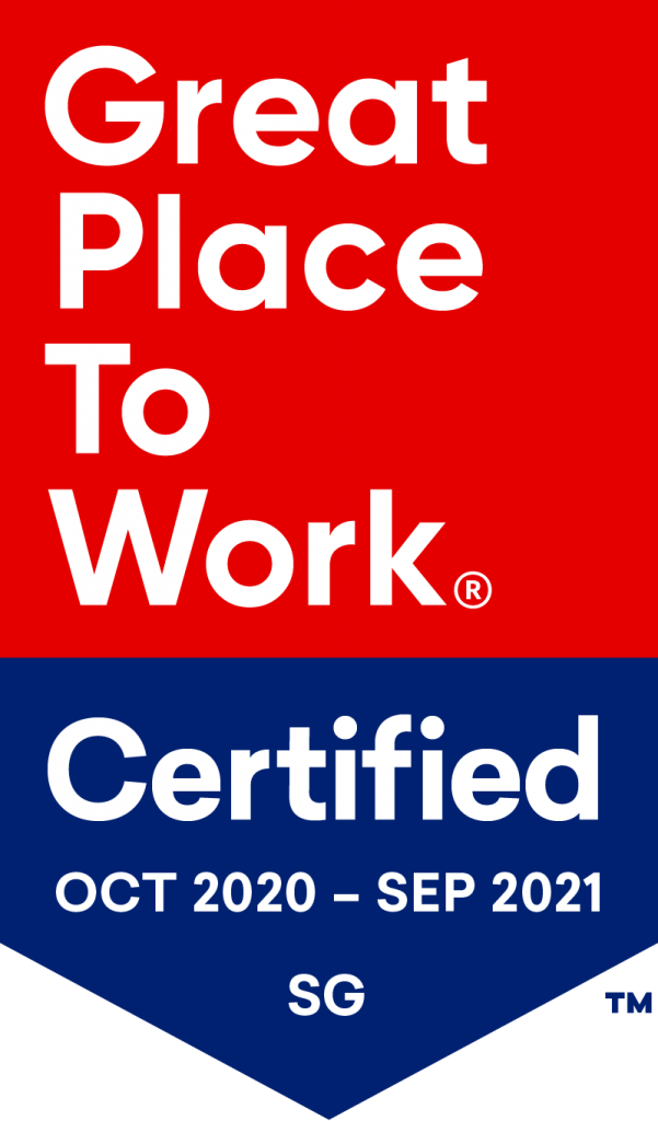Great Place to Work Certified Singapore Oct-Sept 20-21