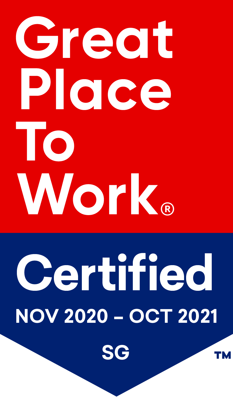 Great Place to Work Certified Singapore Nov-Oct 20-21