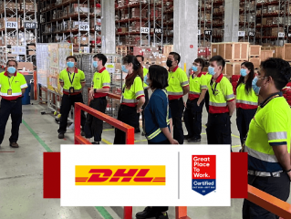 DHL Supply Chain Great Place to Work and Great Place to Learn Certified